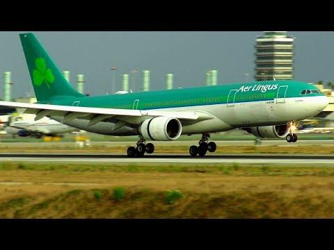 SMOOTH Aer Lingus Airbus A330-200 Landing at Los Angeles (LAX) | EI-DAA