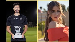 هذه حقيقة زواج لاعب المنتخب الوطني #بغداد_بونجاح بملكة جمال العرب سابقا رانيا بن عيشوش