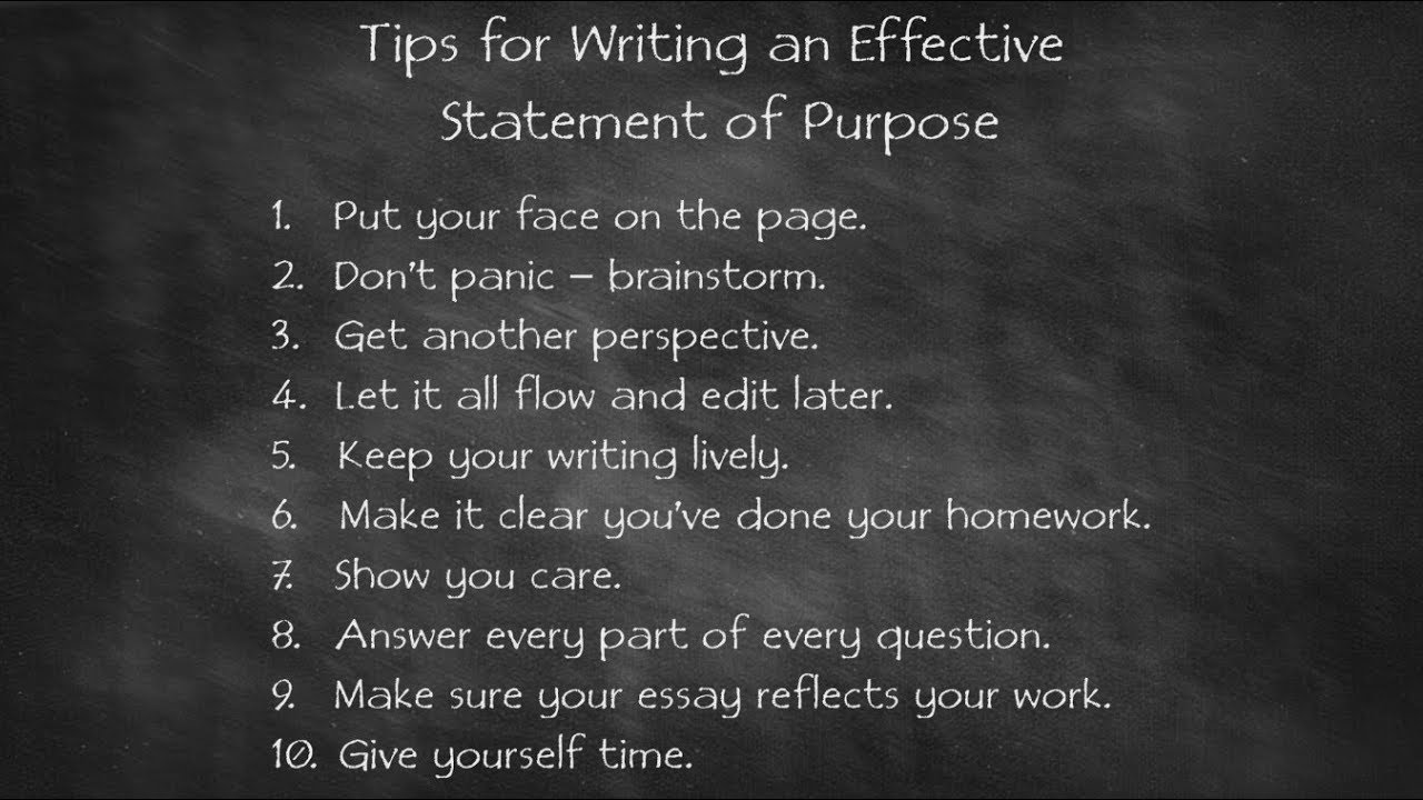 7 Tips for Writing an Effective Statement of Purpose