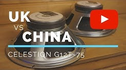 Celestion G12T-75, Made in UK vs Made in China