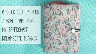 Set up / How I am using my Paperchase Dreamscape Planner