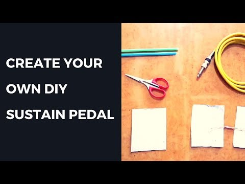 How To Make A Sustain Pedal For Keyboard with Household Items