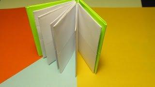 ОРИГАМИ - КНИЖКА Своими Руками. Легкая Поделка из бумаги для Начинающих. Видео