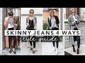 Style Guide: Basic Black Skinny Jeans 4 Ways | by Erin Elizabeth