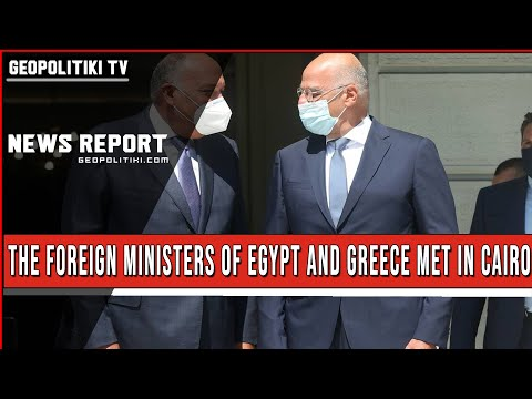 THE FOREIGN MINISTERS OF EGYPT AND GREECE MET IN CAIRO
