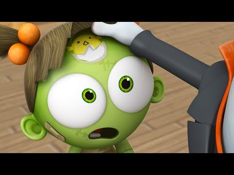 Funny Animated Cartoon | Spookiz Zizi's Brand New Chick Forehead Tattoo 스푸키즈 | Videos For Kids