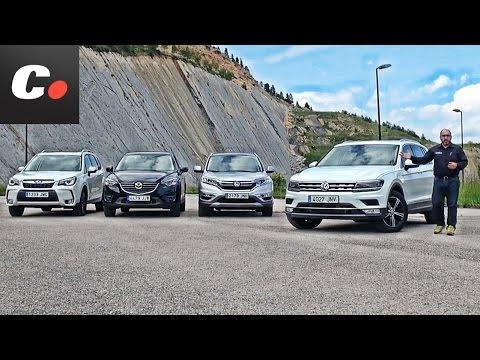 Volkswagen Tiguan SUV vs Mazda CX-5, Honda CR-V, Subaru Forester   Prueba / Test / Review