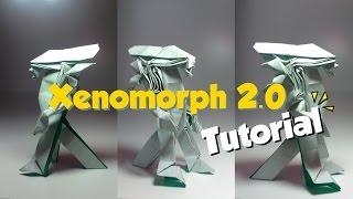 كيفية جعل - اوريغامي Xenomorph 2.0 BP التعليمي - اوريغامي الغريبة