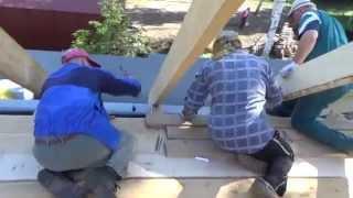 видео Установка стропильной системы