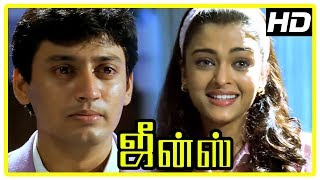 Jeans Movie Scenes | Prashanth tries to propose to Aishwarya | Lakshmi | Raju Sundaram