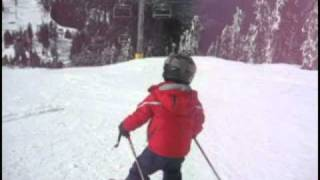 4 Year Old Downhill Skier 360 Spins On Snow