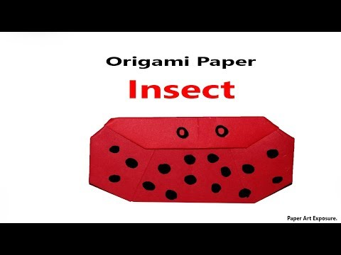 Origami Insects make from Paper || Origami Paper Insects.