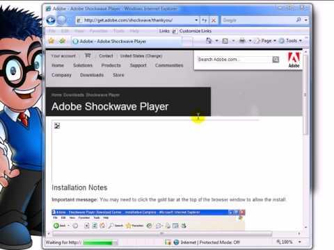 How-To Install Adobe Shockwave In Internet Explorer