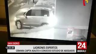 San Isidro: cámara capta asalto en conocido estudio de abogados