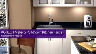 installation malleco pull down kitchen faucet