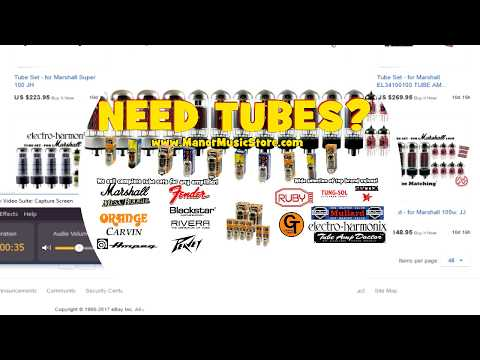 Manor Music Store.com sells tube sets for all guitar amps