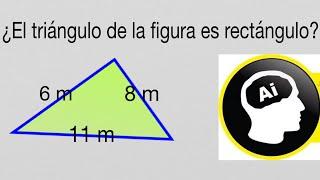 Averiguar si un triángulo es rectángulo conociendo sus lados