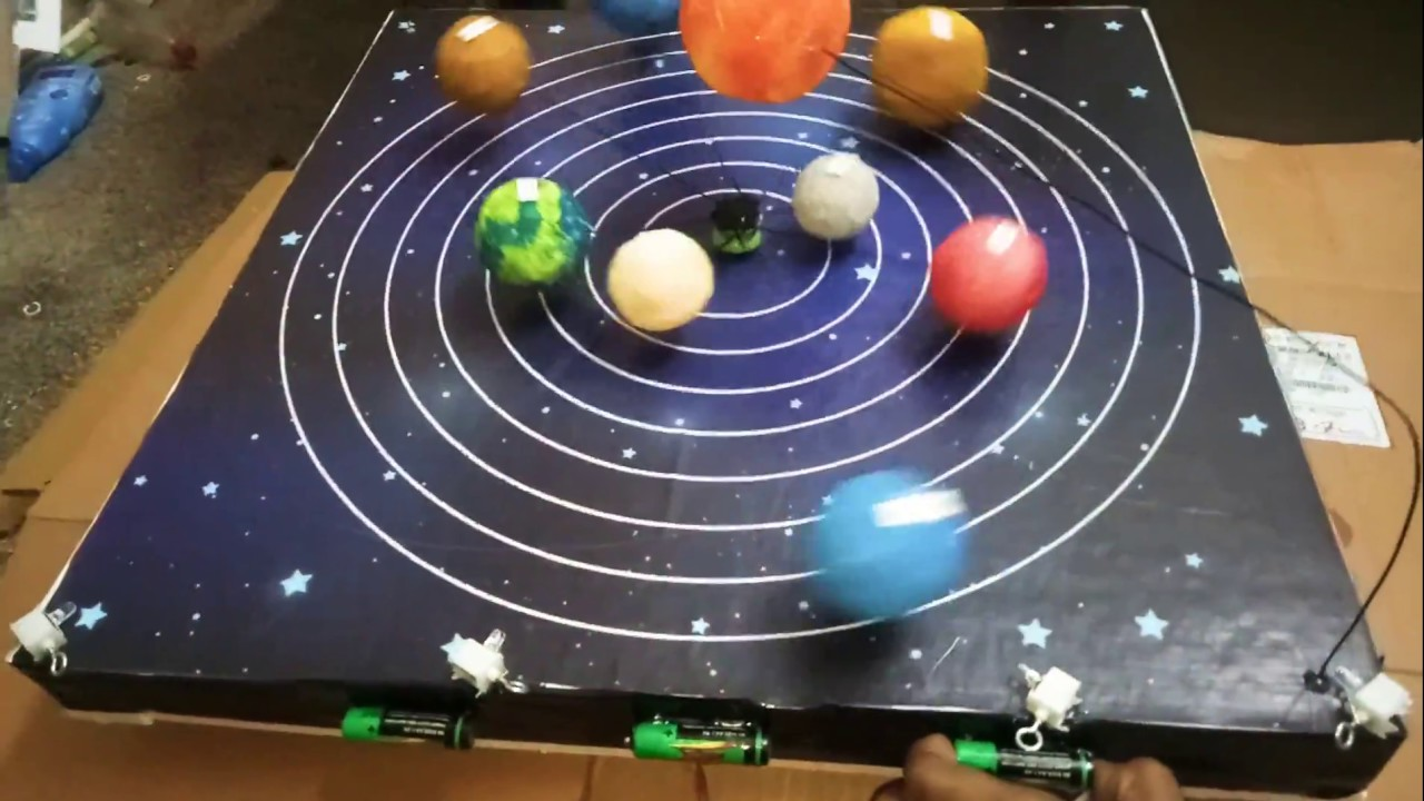 School Science Project - Solar System Working Model