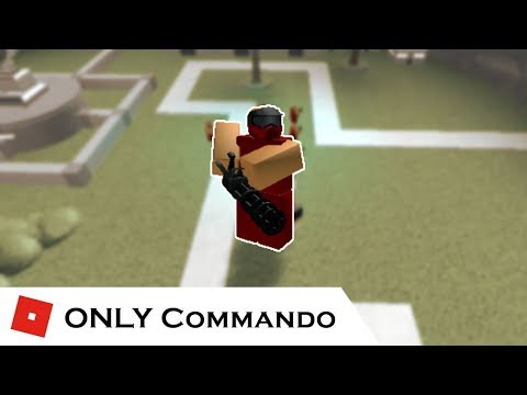 How far can You go with ONLY Commando?  Tower Battles ROBLOX