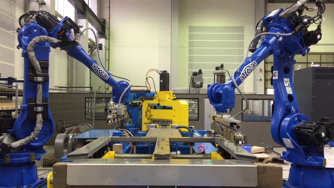 GEORG precisioncut TBA300 miniline with robot stacking ...
