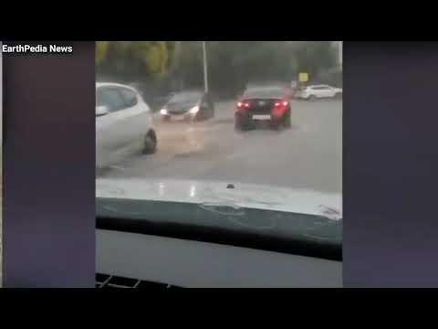 EarthPedia News [ FLOOD ] Flash Floods and a Severe Rainstorm hits Krasnodar, Russia