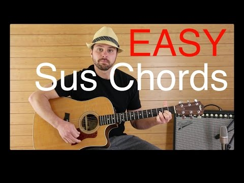 Easy Guitar lesson on Suspended chords Dsus2 Asus2 Explained