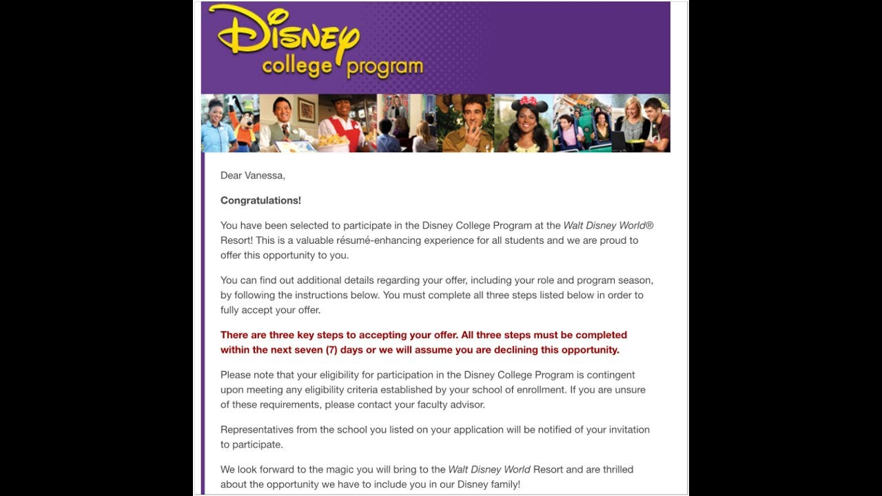 I GOT ACCEPTED INTO THE DISNEY COLLEGE PROGRAM | SPRING 2018