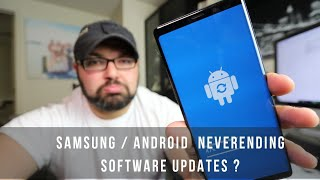 Software Update Keeps Popping Up? Samsung Android - Messy Desk Vlog 3