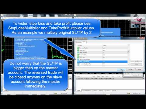 Copy & Reverse Forex Trades between MT4 accounts with the Local Trade Copier by EA Coder
