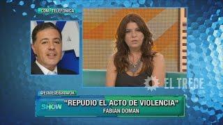 Repeat youtube video Cruce entre Fabián Doman y Andrea Taboada
