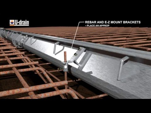 Commercial U drain™ Installation