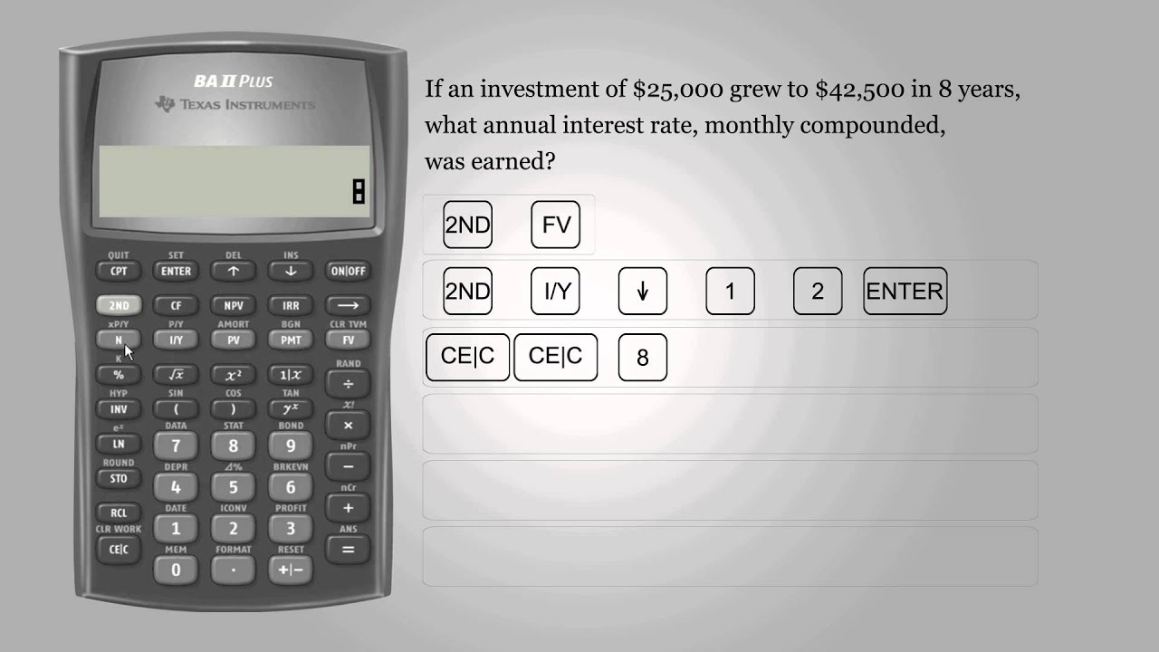 interest rate  u2013 texas instruments ba ii plus
