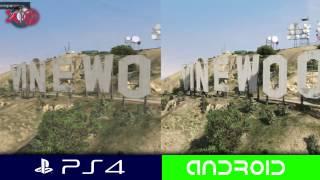 PS4 vs Android Graphics comparison