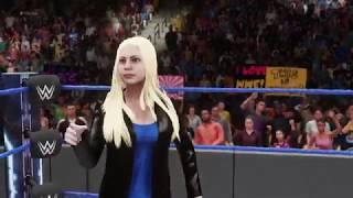WWE 2k18 - Olivia Holt vs. Nia Jax and Carmella