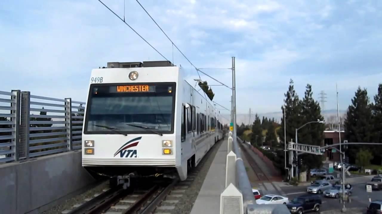 VTA Light Rail At Hamilton Station Great Ideas