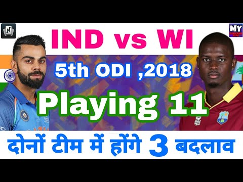IND vs WI ,5th ODI - Playing 11 Of Team India & Windies with 3 Changes| Nostra Pro App