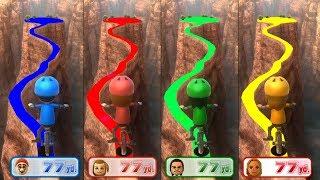 Wii Party U Minigames - Mario Vs Polly Vs Jonh Vs Elena Master Difficulty