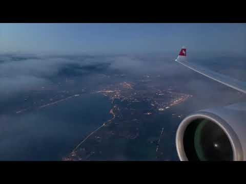 Swiss Airbus A220-300 | Sunrise Scenic Flight LX2801 GVA-ZRH