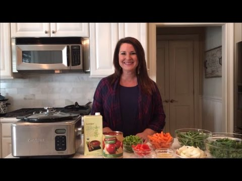 A Healthy Crockpot Vegetable Soup Recipe