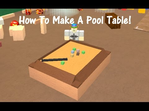 How to make a pool table lumber tycoon 2 youtube for How to build a billiard table