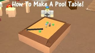 How To Make A Pool Table! Lumber Tycoon 2