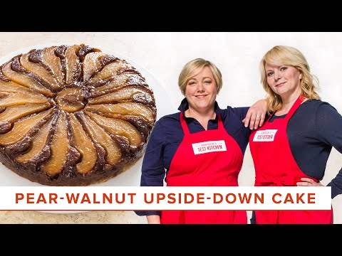 How to Make an Elegant Pear-Walnut Upside Down Cake