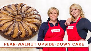 How to Make an Elegant Pear-Walnut Upside Down Cake