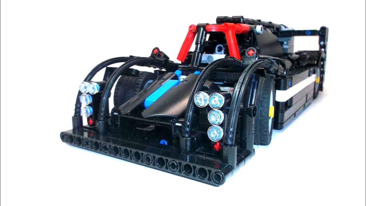 Lego Technic Motorized Race Car Youtube