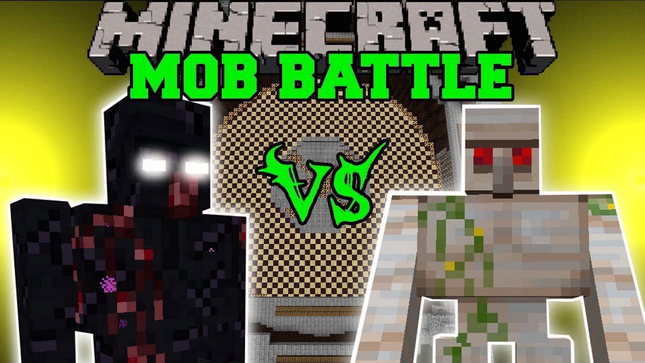 Mutant Obsidian Golem Vs Mutant Iron Golem Minecraft Mob Battles Mods Youtube