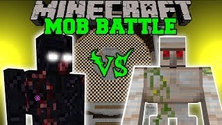 MUTANT OBSIDIAN GOLEM VS MUTANT IRON GOLEM - Minecraft Mob Battles - Mods