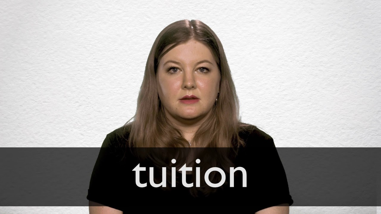 How to pronounce TUITION in British English