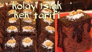 brownie ıslak kek tarifi  kolay brownie Kek tarifi  on dakika da kolay kek yapımı