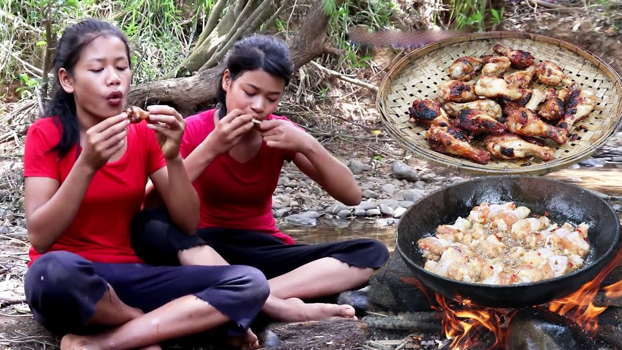 Skill cooking Chicken thighs Fried vs special recipe - Survival Foods