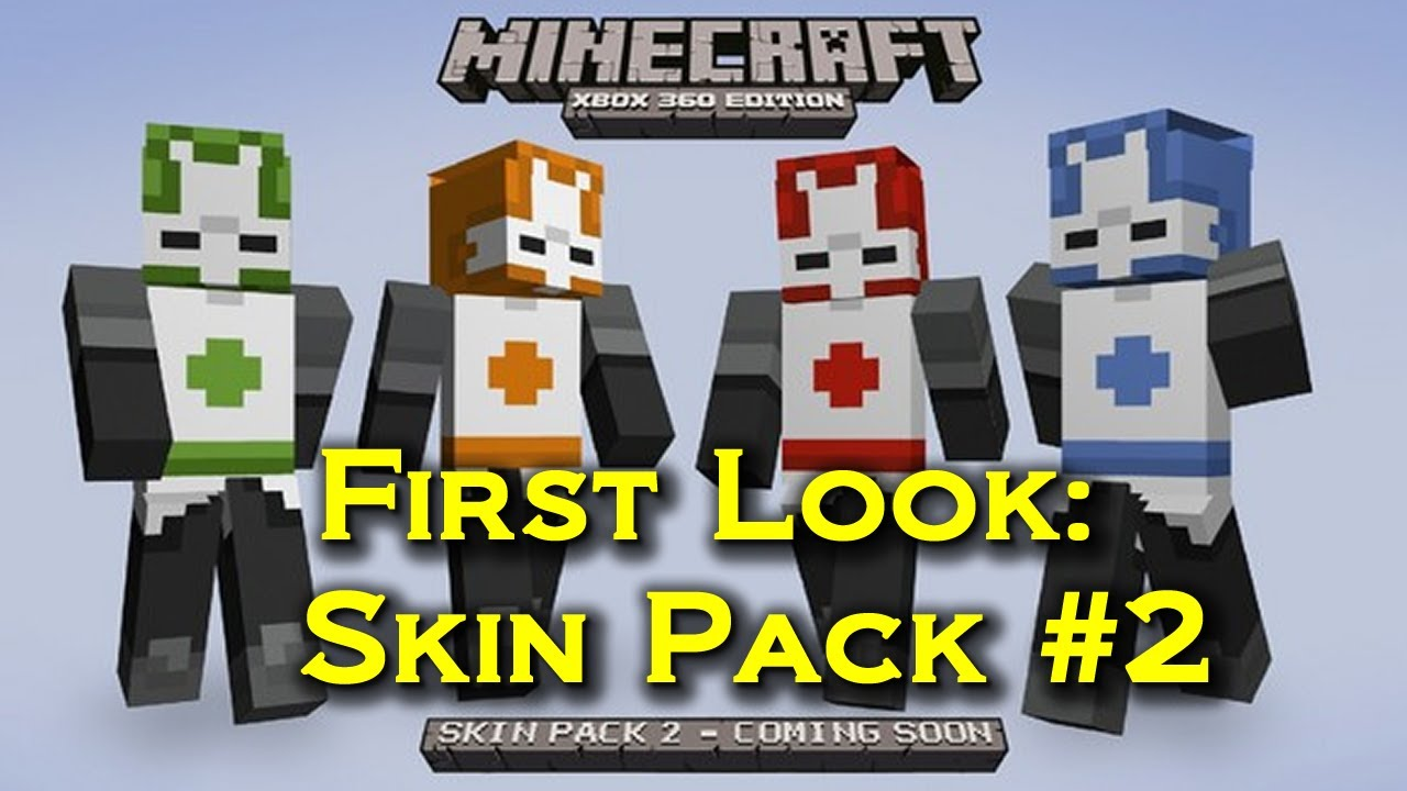 Minecraft 'Skin Pack 2' Xbox 360 | First Look at Skin Pack ...